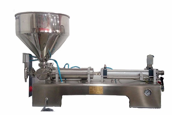 Pneumatic tomato sauce/syrup/cream filler machine