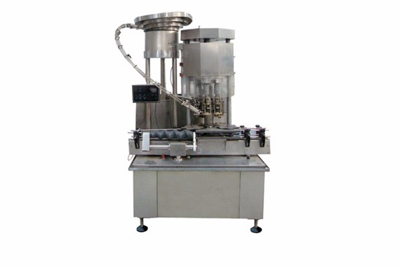 Automatic aluminum screw capping machine